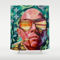 trip Shower Curtains featuring Bad Trip by Jared Yamahata
