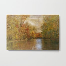 A Lazy River Ride in Fall Metal Print