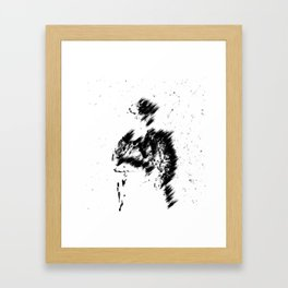 Abstract Soldier (Black) Framed Art Print