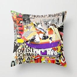 Urban Scratches Throw Pillow