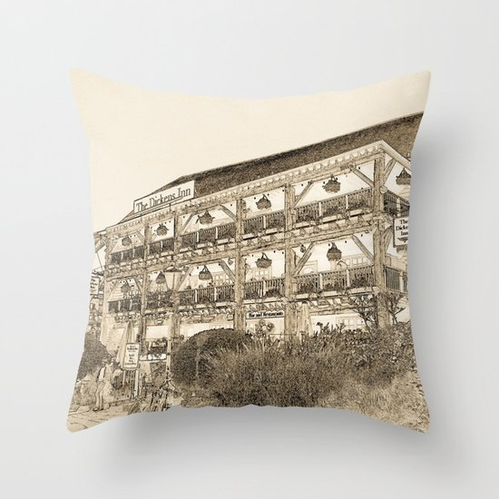 The Dickens Inn Pub London Throw Pillow