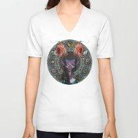 zodiac V-neck T-shirts featuring Zodiac : Capricorn by Det Tidkun