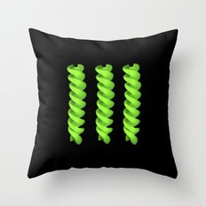 green pasta IV Throw Pillow