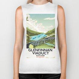 Glenfinnan Viaduct Scotland Rail poster Biker Tank