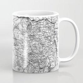 Vintage Map of Texas (1856) BW Coffee Mug