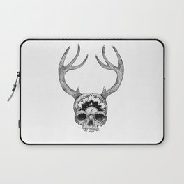 Mandala Skull With Gorgeous Antlers Laptop Sleeve