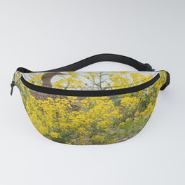 Female Mallard among the yellow flowers Fanny Pack