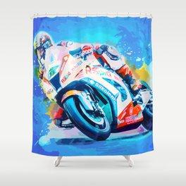 Superbike Racing Shower Curtain