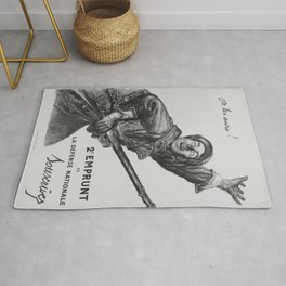 French First World War Poster - We Will Beat Them! (1916) Rug