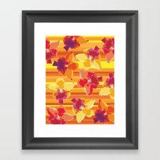 Fluor Flora - Arancio Framed Art Print