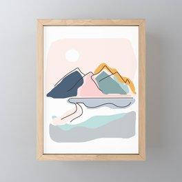 Minimalistic Landscape Framed Mini Art Print