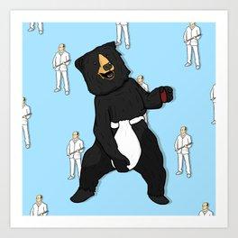 Masturbating Bear Art Print