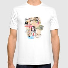 Florence, Italy White Mens Fitted Tee MEDIUM