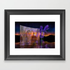 Waves from a flowers breath take no limits to their depth Framed Art Print