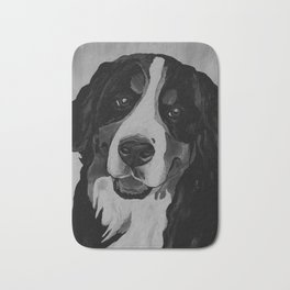 Vintage Bernese Mountain Dog Bath Mat