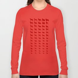All Dogs (Red) Long Sleeve T-shirt
