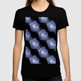 Morning Glory Illusion On Black T-shirt