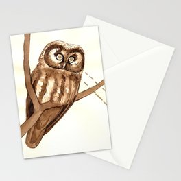 Laser Boreal Owl Stationery Cards