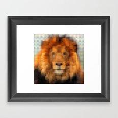 Lego Lion Framed Art Print