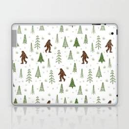trees + yeti pattern in color Laptop & iPad Skin