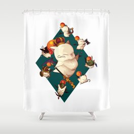 King Moogle Mog Shower Curtain
