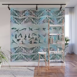 Labradorite Yoga Asanas  on mother of pearl Wall Mural