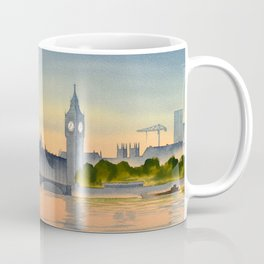 Westminster And Big Ben From The River Thames London Coffee Mug