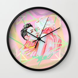 Ace Meets Base Wall Clock