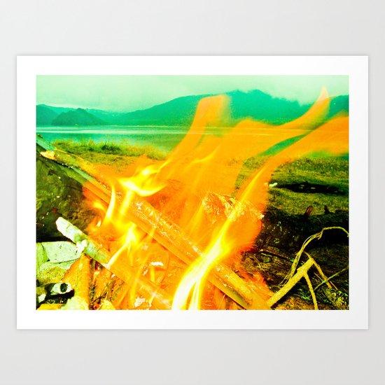 FIRE IN MY Art Print