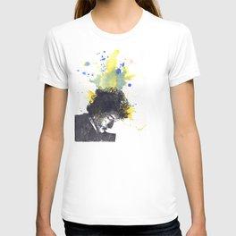 Portrait of Bob Dylan in Color Splash T-shirt