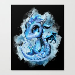 Lil DragonZ - Elements Series - Water Canvas Print