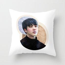 Seokjin : Flushed Throw Pillow
