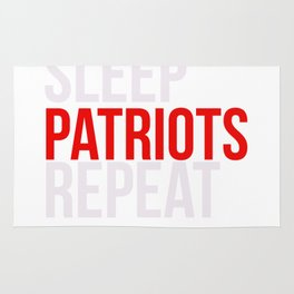 Eat Sleep Patriots Repeat Football Fan Rug