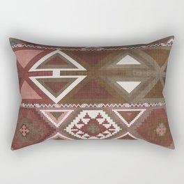 Aztec Artisan Tribal in Sienna Rectangular Pillow