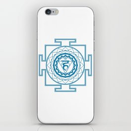 Sri Yantra Throat Chakra iPhone Skin