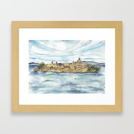 Uros islands Framed Art Print