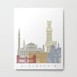 Alexandria skyline poster Metal Print
