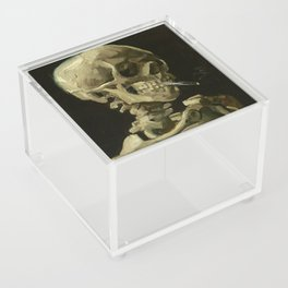 Vincent van Gogh - Skull of a Skeleton with Burning Cigarette Acrylic Box