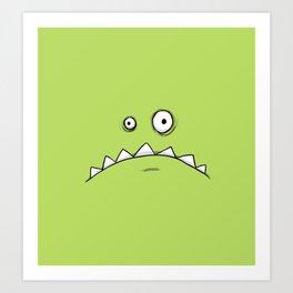 Grumpy Green Monster Art Print