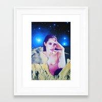 angelina jolie Framed Art Prints featuring Angelina Jolie by John Turck