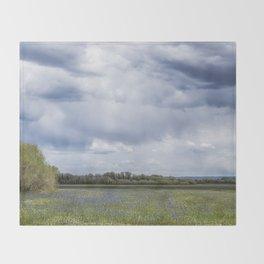 Field of Camas and Dandelions, No. 2 Throw Blanket