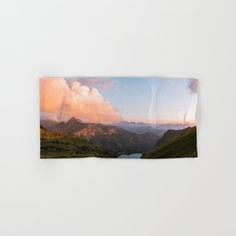 Mountain lake in Germany with Moon - landscape photography Hand & Bath Towel