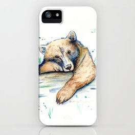 Baby Bear Watercolor iPhone Case
