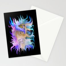 Woman Horse and Butterfly Stationery Cards