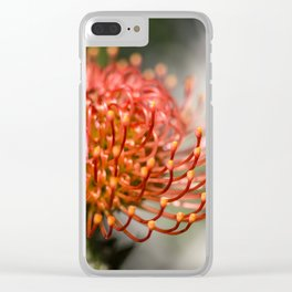 Exotic Pin Cushion Protea Flower- Botanical Photography #Society6 Clear iPhone Case