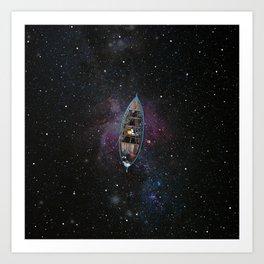 SAILING THE STARS Art Print