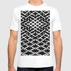Pattern #5 MEDIUM White Mens Fitted Tee