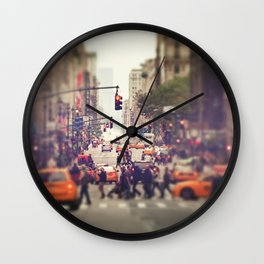 Down the Avenue Wall Clock