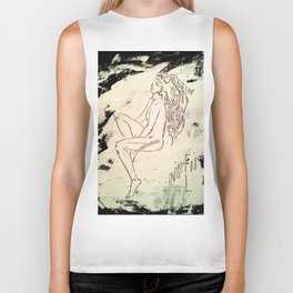 Black & White Dreams Biker Tank