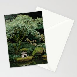 Serenity at a Japanese Garden Stationery Cards